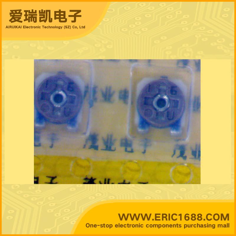 金属陶瓷贴片微调电位器rvg4m系列 rvg4m08-105vm-tg 1mΩ/ohm 4x4-1m